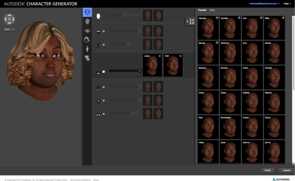 autodesk character generator cutscene artist. Black Bedroom Furniture Sets. Home Design Ideas
