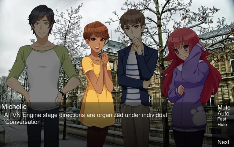 Visual Novel Engine for Unity